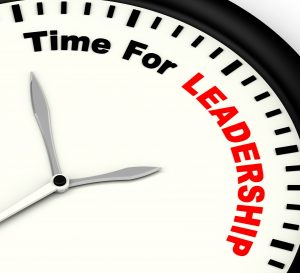 Time For Leadership Message Means Management And Achievement